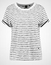 G-Star GStar ELXA 3D STRIPE STRAIGHT R T S/S Tshirts med print milk/black