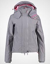 Superdry Lett jakke light grey marl/shocking pink