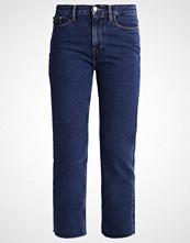 Calvin Klein HIGH RISE STRAIGHT CROPPED STONEY Straight leg jeans denim