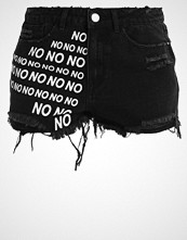 Missguided SINNER NO NO NO  Denim shorts black