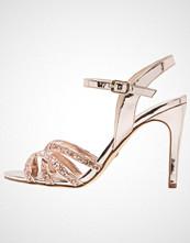 Buffalo Sandaler med høye hæler metallic glitter/rose gold