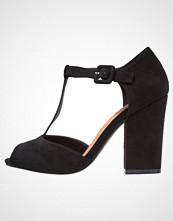 Bianco Høye hæler med åpen front black