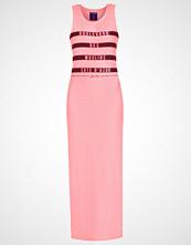 Superdry MARINER STRIPE Fotsid kjole coral neon