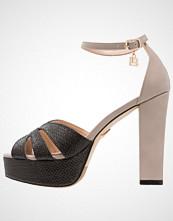 Laura Biagiotti Sandaler med høye hæler tan/black