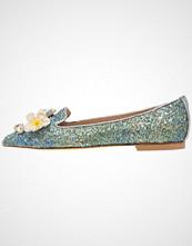 Hegos Slippers glitter/tan/blu