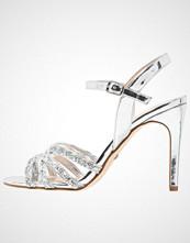 Buffalo Sandaler med høye hæler metallic glitter/silver