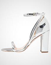 Office Sandaler med høye hæler silver mirror