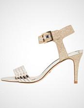 Buffalo Sandaler med høye hæler metallic/glitter gold light