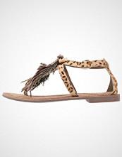 Lazamani Flip Flops brown