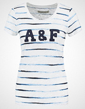 Abercrombie & Fitch Tshirts med print white/blue