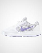 Nike Performance REVOLUTION 3 Nøytrale løpesko white/purple earth/wolf grey