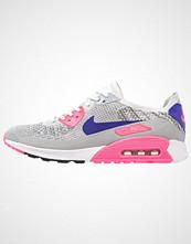 Nike Sportswear AIR MAX 90 ULTRA 2.0 FLYKNIT Joggesko white/concord/laser pink/black/matte silver/pure platinum