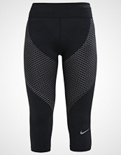 Nike Performance ZONAL  3/4 sports trousers black/tumbled grey/reflective silver