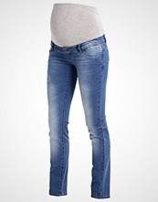 Mamalicious MLLEXI Straight leg jeans medium blue denim