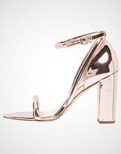 Office Sandaler med høye hæler rose gold