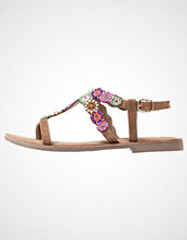 Lazamani Flip Flops taupe/multicolor