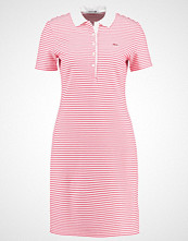 Lacoste Strikket kjole white/sirop pink