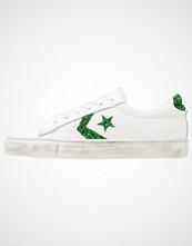 Converse PRO LEATHER VULC OX LEATHER DISTRESSED Joggesko white/emerald