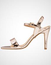 Buffalo Sandaler med høye hæler metallic champagne