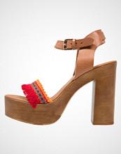 Mai Piu Senza Sandaler med høye hæler noce/rosso