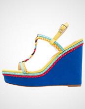 Even&Odd Sandaler med høye hæler blue/multicolored