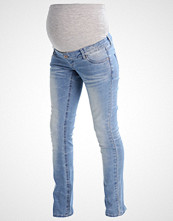 Mamalicious MLCLARA Straight leg jeans light blue denim