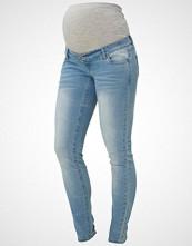 Mamalicious Slim fit jeans light blue denim