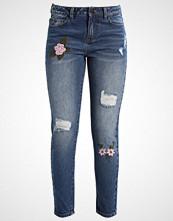 Vila VIGLARA Slim fit jeans medium blue denim