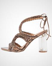 Glamorous Sandaler med høye hæler bronze