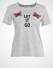 Only ONLLETS FLY Tshirts med print light grey melange