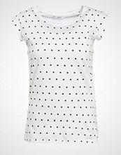 Only ONLBONE Tshirts med print cloud dancer/black