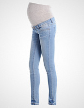 Mamalicious MLSCRATCH Slim fit jeans light blue denim