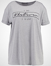 Dorothy Perkins Curve WHATEVER Tshirts med print grey