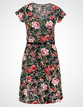 Anna Field FLORAL Jerseykjole black/red