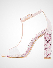 Missguided MARBLE FINISH T BAR Sandaler med høye hæler pink