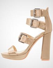 Missguided MULTI BUCKLE Sandaler med høye hæler khaki