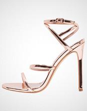 Office HALO Sandaler med høye hæler rose gold mirror