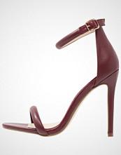 Missguided Sandaler med høye hæler burgundy