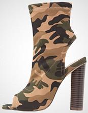 Missguided CAMOUFLAGE Sandaler med høye hæler khaki