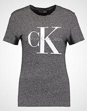 Calvin Klein SHRUNKEN TRUE ICON  Tshirts med print black heather