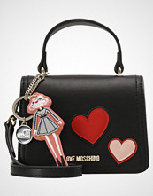 Love Moschino HEART PATCH  Skulderveske nero