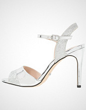 Buffalo Sandaler med høye hæler glitter metallic silver