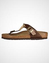 Birkenstock GIZEH Flip Flops brown/gold