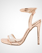 Missguided VAMP ANKLE TIE  Sandaler med høye hæler rose gold
