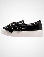 Lost Ink NATASHA BUCKLE BOW SLIP ON Slippers black
