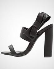 Missguided SIDE BOW BLOCK HEEL  Sandaler med høye hæler black