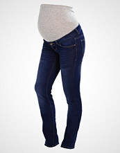 Mamalicious MLULRIKA Straight leg jeans dark blue denim