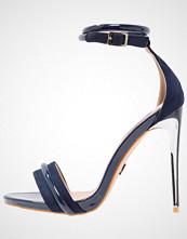 Lost Ink BELLA 2TONE Sandaler med høye hæler navy
