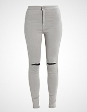 Missguided VICE HIGH WAISTED SLASH KNEE Jeans Skinny Fit grey