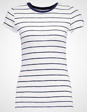 Hollister Co. MUST HAVE SLIM CREW STRIPE Tshirts med print navy/white